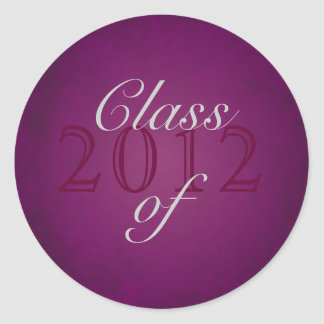 Vintage Pink Class of Silver Graduation Sticker