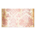 Vintage Pink Damask Business Card Template