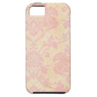 Vintage Pink Damask iPhone 5 Cases