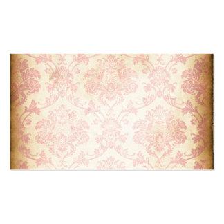 Vintage Pink Damask Pack Of Standard Business Cards