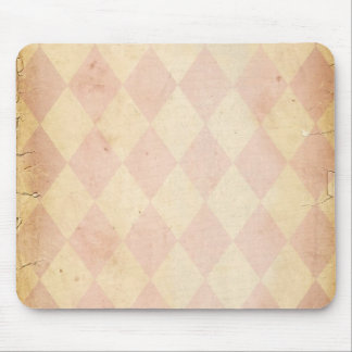 Vintage Pink Diamond Print Mouse Pad