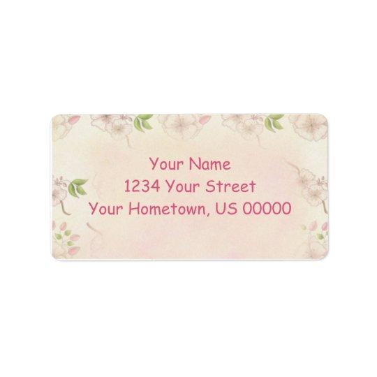 Vintage Pink Dogwood and Buds Address Label