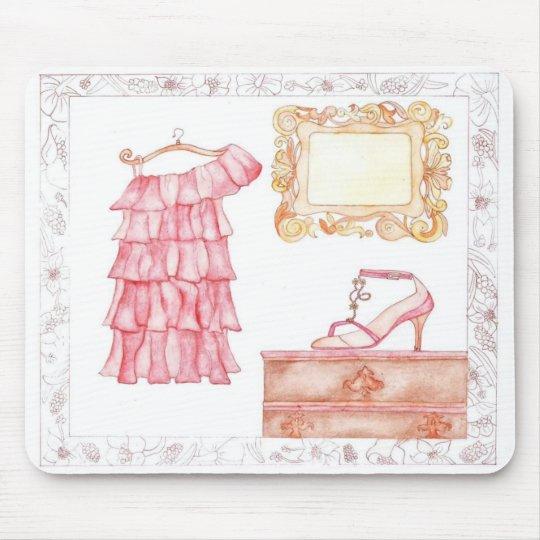 Vintage Pink Dress mousepad