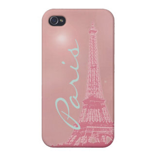 Vintage Pink Eiffel Tower Cover For iPhone 4