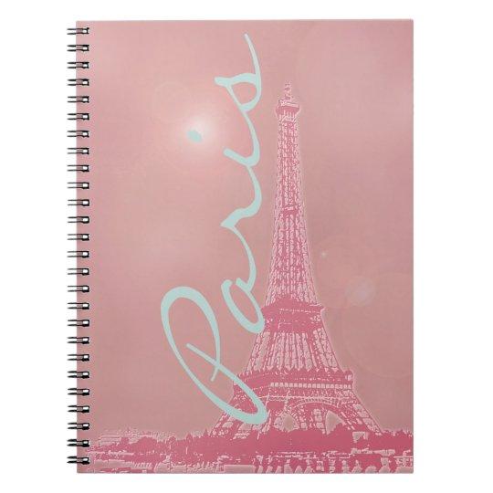 Vintage Pink Eiffel Tower Notebooks
