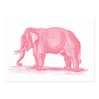 Vintage Pink Elephant 1800s Elephants Illustration Business Card