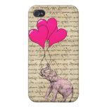 Vintage pink elephant & balloons