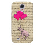 Vintage pink elephant & balloons galaxy s4 cases