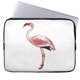 Vintage Pink Flamingo Painting Laptop Sleeve