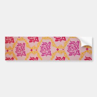 Vintage  Pink Floral Bumper Sticker