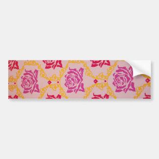 Vintage  Pink Floral Bumper Stickers