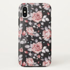 Vintage Pink Floral Pattern iPhone X Case