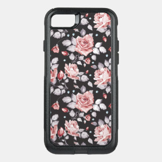 Vintage Pink Floral Pattern OtterBox Commuter iPhone 7 Case