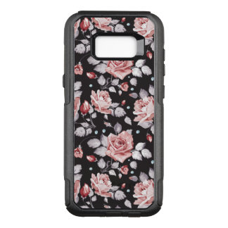 Vintage Pink Floral Pattern OtterBox Commuter Samsung Galaxy S8+ Case
