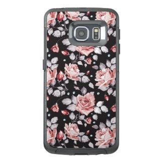 Vintage Pink Floral Pattern OtterBox Samsung Galaxy S6 Edge Case