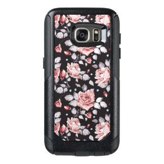 Vintage Pink Floral Pattern OtterBox Samsung Galaxy S7 Case