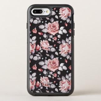 Vintage Pink Floral Pattern OtterBox Symmetry iPhone 8 Plus/7 Plus Case