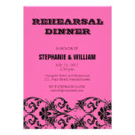 Vintage Pink Floral Rehearsal Dinner Card Personalized Invites