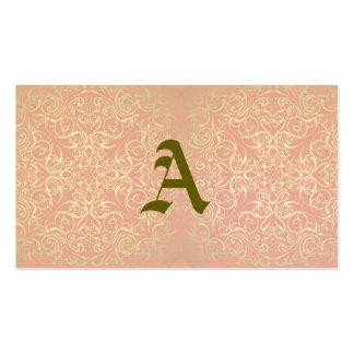 Vintage,pink,floral,victorian,gold,elegant,pattern Double-Sided Standard Business Cards (Pack Of 100)