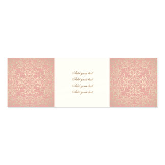 Vintage,pink,floral,victorian,gold,elegant,pattern Double-Sided Mini Business Cards (Pack Of 20)