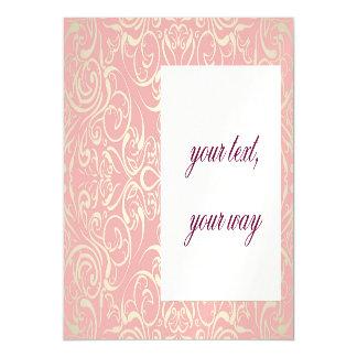 Vintage,pink,floral,victorian,gold,elegant,pattern Magnetic Invitations