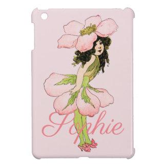 Vintage Pink Flower Fairy Personnalised iPad Mini Cases