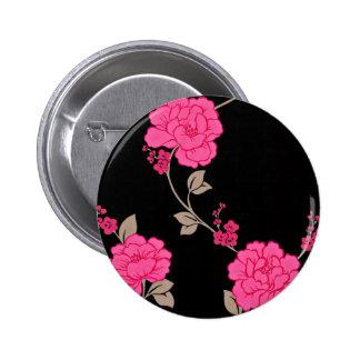 Vintage Pink Flowers Pins