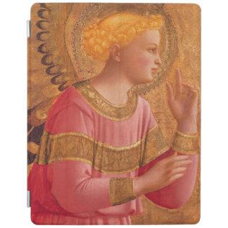 Vintage Pink Golden Christian Angel iPad Cover