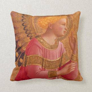 Vintage Pink Golden Christian Angel Cushion