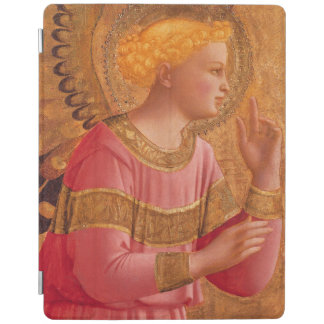 Vintage Pink Golden Christian Angel iPad Cover