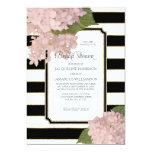 Vintage Pink Hydrangea Classy Modern Bridal Shower 13 Cm X 18 Cm Invitation Card