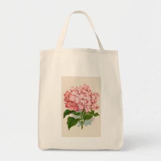 Vintage Pink Hydrangea Tote Bag