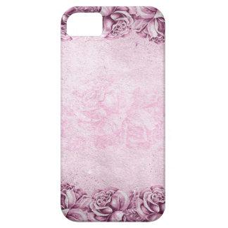 Vintage Pink Lavender Roses Borders iPhone 5 Cases
