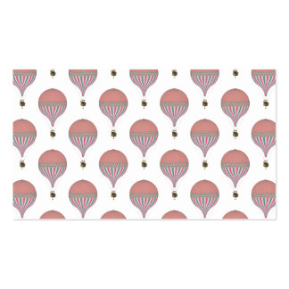 Vintage Pink, Light Blue Hot Air Balloons Pack Of Standard Business Cards