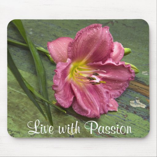 Vintage Pink Lilac Daylily Flower Passion Mousepad