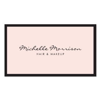 Vintage Pink Makeup and Beauty Business Card