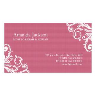 Vintage Pink Mom calling card Business Card