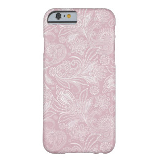 Vintage Pink Paisley Barely There iPhone 6 Case
