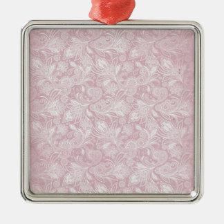 Vintage Pink Paisley Christmas Tree Ornament