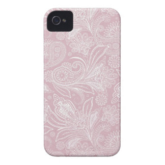 Vintage Pink Paisley iPhone 4 Covers