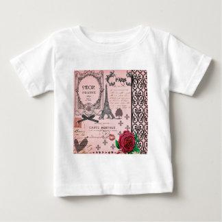 Vintage Pink Paris Collage Baby T-Shirt