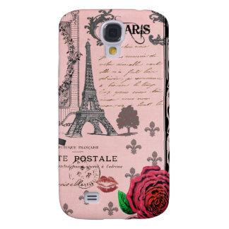 Vintage Pink Paris Collage Galaxy S4 Case