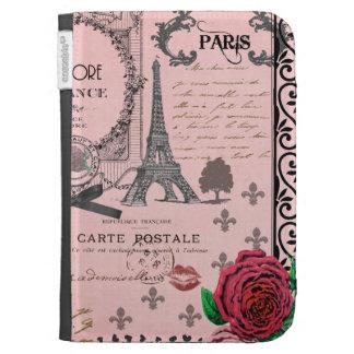Vintage Pink Paris Collage kindle case