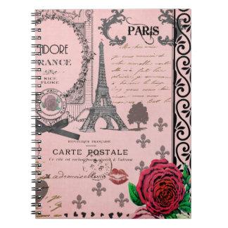Vintage Pink Paris Collage notebook