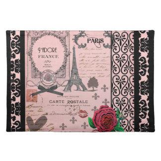 Vintage Pink Paris Collage Place Mat