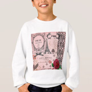Vintage Pink Paris Collage Sweatshirt