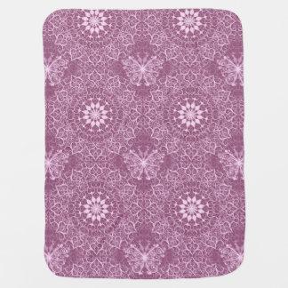 Vintage Pink Pattern Baby Blanket
