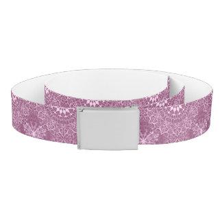 Vintage Pink Pattern Belt
