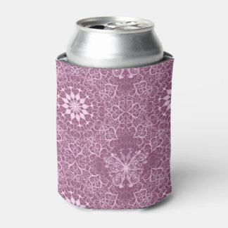 Vintage Pink Pattern Can Cooler