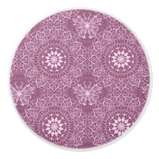 Vintage Pink Pattern Ceramic Knob